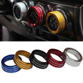 Decoration Stereo Air Conditioning Knob Ring Toyota Yaris 3pcs New Cars Alu