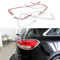 2015 2016 KIA Sorento 8pcs Chrome Back Up Light Lamp Rear Tail Brake Cover Trim