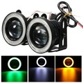 Halo Angel COB Pair Universal Projector 2.5inch LED Car Fog Light Rings DRL Eyes