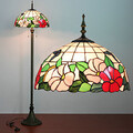 Pattern Floor Resin Tiffany Painting Light Lamp Glass