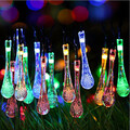 Light String Outdoor Christmas Tree Christmas Light Garden Solar Drop