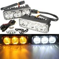 Driving Running Amber Turn Signal Pair DRL LED Car White Light Lamp Daytime