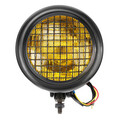 Headlight High Low Beam Light Black Universal Motorcycle 12V Round 7Inch Bright LED