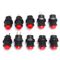10pcs 1.5A ON OFF 3A Latching SPST Red 250V 125V Push Button Switch