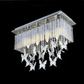Crystal Pendant Butterfly Bedroom Luxury Modern