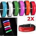 Strap Running Night Signal Safety 2pcs LED Reflective Arm Band Red Belt