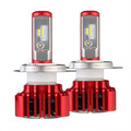 8000LM 6000K Pair H4 Low Beam Motorcycle Car 60W LED Headlight Bulb