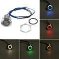Car Boat Truck Panel Dash 12V 19mm Push Button Momentary LED Switch Light