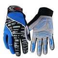 Cycling Bike Silicone Finger Warm Gloves Long Gel Bicycle Blue Full
