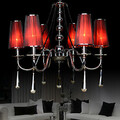 Bedroom Traditional/classic Red Lamps Electroplated Metal Living Room Chandelier 220v