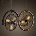 Fan Bar Pendant Lamp Retro American Style Wind