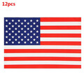 Reverse Car Sticker Side Auto Window Front USA Flag PVC 12pcs Decal