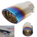 Chrome Grilled Blue Caliber Stainless Steel All Pipe Car Exhaust Muffler Tip