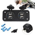 2.1A Dual USB Cigarette Lighter Charger Adapter Socket Splitter Power Outlet
