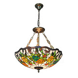 Dining Room Retro Glass Inch Fixture Light Pendant Lights Living Room Tiffany