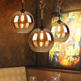Lighting Living Room 20cm Retro Restaurant Pendant Light