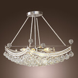 Living Room Electroplated Bedroom Feature For Crystal Metal Pendant Light Max 40w