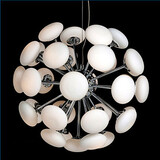 Pendant Lamp Circular European Style Glass Led Simple Modern