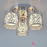 Ceiling Light Dome Three Led Glass