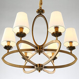 Living Room Kids Room Chandeliers Lodge Electroplated Metal Rustic Dining Room