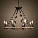 Painting Vintage Feature For Candle Style Metal Retro Chandelier Traditional/classic 40w Country
