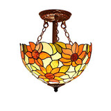 Lights Pendant Lamp Sunflower Tiffany Shade