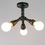 Mini Style Retro Brass Living Room Flush Mount Antique Bedroom