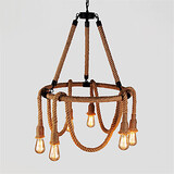 Country Hemp Industrial Retro Rope Pendant Lights