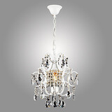 Chandelier Iron Painting Crystal Clear Lighting Lamp Modern