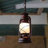 Old Wrought Iron Classic Chandelier Lantern Lamps