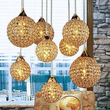 Max 40w Feature For Crystal Metal Globe Electroplated Dining Room Modern/contemporary Hallway Pendant Light Bedroom