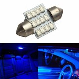 12V Dome Map Car Interior 12SMD Festoon Blue Light Bulb 12 LED Glove Box