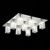 Metal Modern/contemporary Living Room Flush Mount Crystal Dining Room