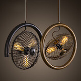 Retro Kitchen Pendant Pendant Lamp Hallway Balcony Fan Simple Bar Cafe