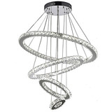 20cm 60cm Pendant Lights Rings Round Clear Ceiling Light