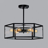 Mini Style Living Room Dining Room Hallway Retro Bedroom Garage Metal Study Room Pendant Lights