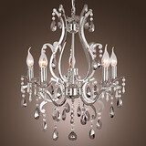 Living Room Chandelier Bedroom Dining Room Traditional/classic Feature For Candle Style Metal Chrome