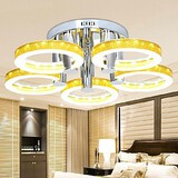 Chandelier Chrome Finish Led Acrylic Lights 90w Simple