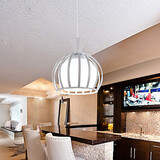 Led 1pc Pendant Light And Contracted Glass Round Restaurant