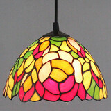 Vintage 25w Painting Feature For Mini Style Metal Tiffany Hallway Pendant Light Entry