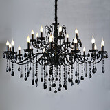 Red Crystal Light Chandeliers Living Room Traditional/classic