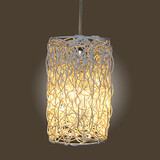 Single Led Modern Restaurant Cany Rattan Art Rural