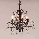 Traditional/classic Feature For Candle Style Metal Painting Max 40w Bedroom Living Room Chandelier Dining Room