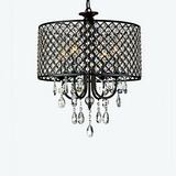 Drum Living Room Dining Room Chandeliers Modern/contemporary Crystal Study Room Chrome Office