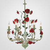 Iron Chandelier Lamp Garden Lamp American Flower Flowers European