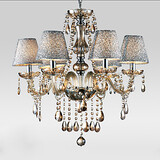 Chandelier Traditional/classic Feature For Crystal Living Room Glass Bedroom Vintage Electroplated