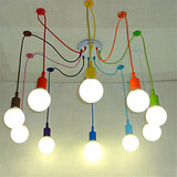 Lamps Bulb E27 Pendant Lamp Diy Art Multi-color Lighting Holder Pendant Lights