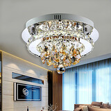 Crystal Steel Amber Room Stainless Hallway Ceiling Light Living Room