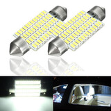 LED Light Lamp Bulb White 2Pcs Car Interior 3W Roof 41MM