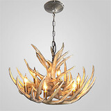 Industrial Chandelier Lighting Fit Living Room Antler Fixture Dining Room Country
